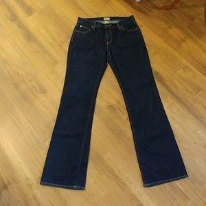 GAP Dark Wash Curvy Flare Mid Rise Denim Jeans